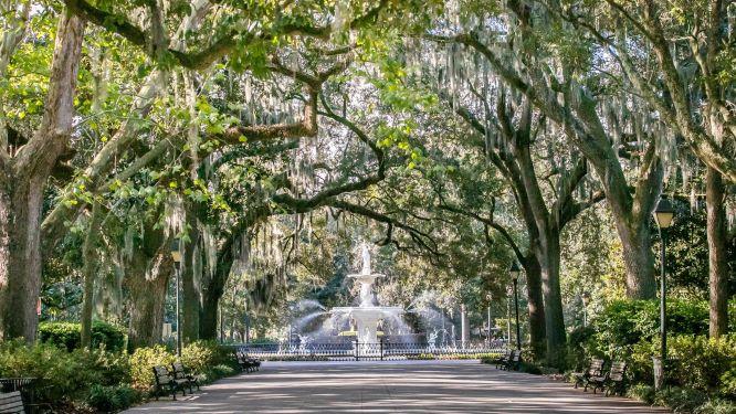 Historical Forsyth Park in Savannah